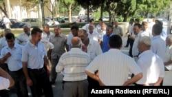 Sabirabad sakinlərinin Prezident Administrasiyası qarşısında aksiyası, 31 avqust 2010