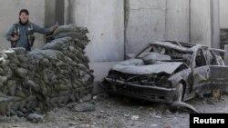 Afganistan - Pamje pas një shpërthimi (Arkiv)