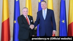 Președintele Klaus Iohannis și noul ambasador al SUA, Adrian Zuckerman