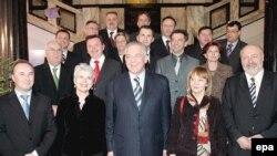 Vlada inaugurirana u siječnju 2008., kada joj je na čelu bio Ivo Sanader