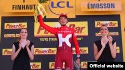 Ильнур Закарин после победы на 17-м этапе Тур де Франс в 2016 году