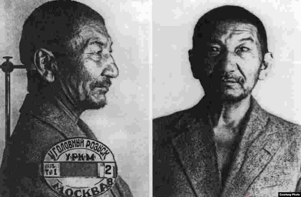 Алаш қозғалысының қайраткері Жаһанша Досмұхамедовтың соңғы суреті. Мәскеу, 1938 жыл.