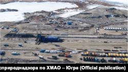 Фотография из акта рейдовой проверки Приобского месторождения. ООО «Газпромнефть-Хантос», 2010 год.
