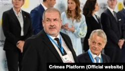 Рефат Чубаров и Мустафа Джемилев, Киев, 23 августа 2021 года