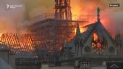 Plamen progutao kulu i krov katedrale Notre Dame