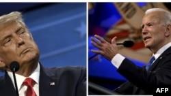 Коллаж: дебаты Дональд Трамп – Джо Байден