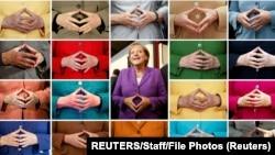 Angela Merkel i njena uobičajena gestikulacija u javnim istupima