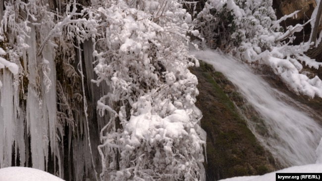 Водопад Су-Учхан, 14 февраля 2021 года