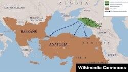 Чергазий Османийн импери кхаьчначу портийн карта