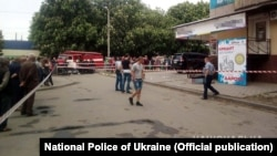 Поліція працює на місці вибуху, Марганець, Дніпропетровська область, 7 травня 2019 року