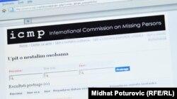 On-line upit o nestalim osobama ICMP-a