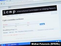 Formular ICMP-a za traženje nestalih