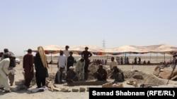 په مسلم باغ کې د عثمان کاکړ قبر تیارېږي. ۲۰۲۱، ۲۳م جون
