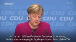 Germany's Merkel Announces Plan To Quit