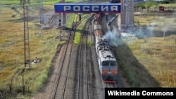 Поезд, въезжающий на территорию России. Иллюстративное фото.