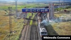 На участке железнодорожной развязки в России. Иллюстративное фото.