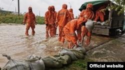 ریزش باران سنگین و سرازیر شدن سیلاب گسترده در جنوب روسیه.