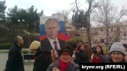 Митинг в поддержку Путина в Севастополе