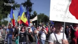 Moldovans March Against Electoral Law