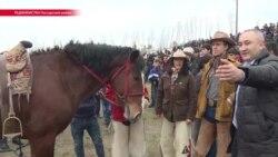 В шлемофоне с обезглавленным козлом. Как в Таджикистане проходят традиционные игры бузкаши