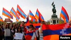 Demonstrație pentru restabilirea păcii în Nagorno Karabah, Viena, 5 aprilie 2016.
