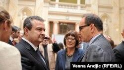 Serbia -- Belgrade, celebration of diplomacy in Serbia, Ivica Dacic and Maja Gojkovic, 29 May 2015