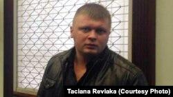 Дзьмітры Лукашэвіч адразу пасьля абвяшчэньня прысуду ў Цэнтральным судзе ў кастрычніку