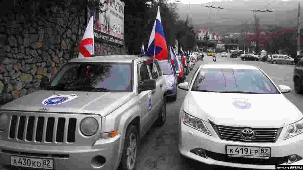 А в Ялте в честь выборов прошел автопробег