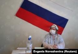 Участок для голосования по поправкам к Конституции в Подмосковье, 25 июня