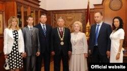 Семья экс-президента Кыргызстана Курманбека Бакиева.