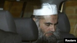 Jordanian preacher Abu Qatada leaves the Special Immigration Appeals Commission in central London on April 17.