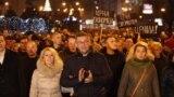 Протестен марш на опозициската партија ВМРО-ДПМНЕ. 12.12.2018.