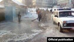 Бишкек. Рыскулов көчөсү. 27-январь, 2018-жыл.