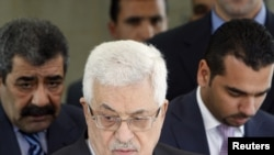 محمود عباس، رئیس تشکیلات خودگردان فلسطینی در شهر رامالله