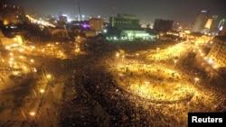 Каирдің Тахрир алаңына жиналған шерушілер. Египет, 20 қараша 2011 жыл.