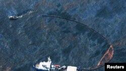 Суда береговой охраны у побережья Луизианы в Мексиканском заливе