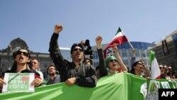 تجمع اعتراضی سوم تیر در نزدیکی پارلمان اروپا در بروکسل