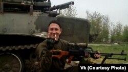 Уладзімер Ястрабаў, які ваяваў на баку самаабвешчанай ДНР. Фотаздымак зь ягонай старонкі «УКантакце»