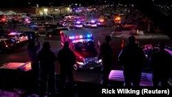 Policija na licu mesta, Volmart, Tornton, 1. novembar 2017.