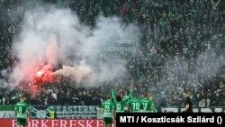 Ferencvárosi TC-Újpest FC labdarúgó bajnoki mérkőzés október 24-én. A lelátón hivatalosan 15 789 néző drukkolt.