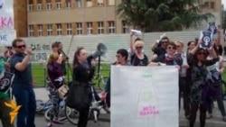 """Протести против законот за абортус """"Мое тело, моја одлука"""""""