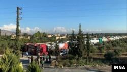 کاروان تانکرهایی که سوخت ایرانی را از سوریه به لبنان منتقل میکنند.