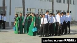 Туркменские школьники (архивное фото)