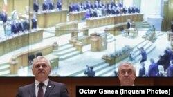 Liderii coaliției de guvernare din România, Liviu Dragnea și Cîălin Popescu-Tăriceanu, 28 noiembrie 2018