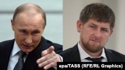 Rusiya prezidenti Vladimir Putin və Çeçenistan rəhbəri Ramzan Kadyrov