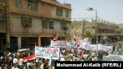 جانب من تظاهرات الموصل السبت