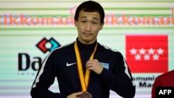 Дархан Асадилов, әлем чемпионатында қола медаль алған сәт. 10 қараша 2018 жыл.