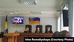 Суд допрашивает Ильина, Киев, 19 апреля 2018 года