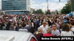 Sa protesta za matični broj, jun 2013.