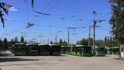 В Харькове треть трамваев и троллейбусов не вышли на маршруты (видео)
